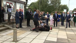Jonathan Douglas-Hughes, the vice lord-lieutenant of Essex, says he's fine after falling during a Royal visit today