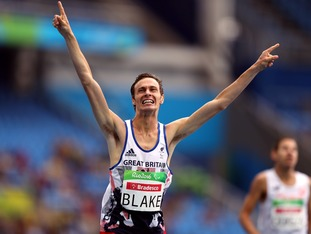 Paul Blake delivered on the track to help Great Britain to a half century of golds.