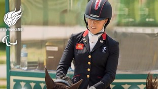 Sophie Wells wins third medal of the games in dressage