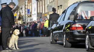 The cortege for Lance Corporal Liam Tasker as it passed through Wootton Bassett during his repatriation in 2011