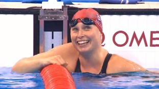 Stephanie Milward won her 50m freestyle heat