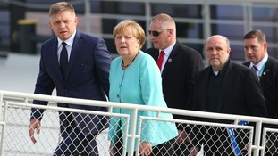 EU leaders board a cruise ship on the Danube