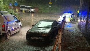 Storms caused travel chaos and floods across the region today