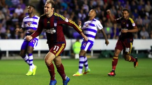 Ipswich Town's Brett Pitman celebrates scoring  from a penalty against Reading
