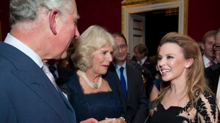 Kylie Minogue sings for Charles and Camilla
