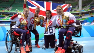 Stephanie Slater, Claire Cashmore, Alice Tai, Stephanie Millward won the women's 4x100m medley