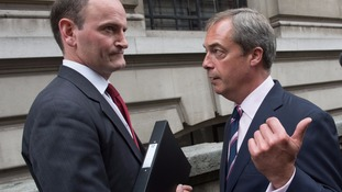 Ukip's only MP insists he will not quit as Farage accuses him of trying to split the party