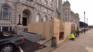 Work has started on the entrance to the new British Music Experience museum on Liverpool's waterfront