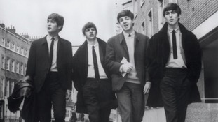 The Beatles: John Lennon, Ringo Starr, Paul McCartney and George Harrison in 1964