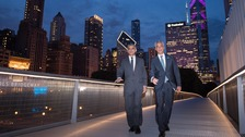Sadiq Khan and his counterpart in Chicago, Rahm Emanuel