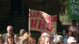 Hundreds turned out in Dorchester as they fight to save their hospital services