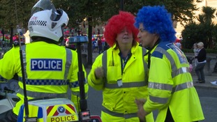 Even the police got into the spirit of things