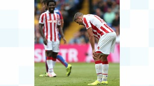 Stoke City's Jonathan Walters looks rues a missed chance to score during the Premier League match at Selhurst Park, London.