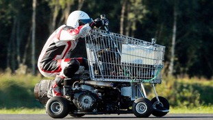 Matt McKeown set the world record for the fastest ever shopping trolley.