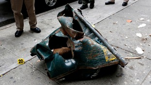 The bomb could have been in a bin which was mangled in the blast.