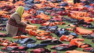 'Graveyard of life jackets' marks migration crisis ahead of UN summit