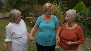 Brenda Grunwell, Nicole Barber and Helen Bacon are promoting awareness of the rare heart condition aortic dissection.