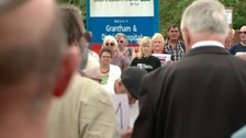 Community protest held earlier this month over closure of A & E department