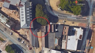 An aerial view of Fitzalan Square