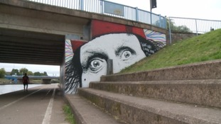 Exeter bridge gets graffiti makeover