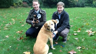Greg Barker with Otto and David Burrowes with Cholmeley