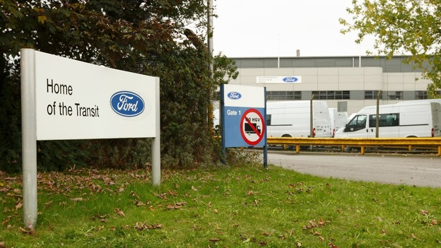 The Ford Transit Assembly Plant in Southampton