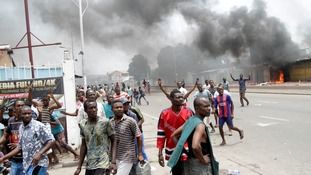 Police and anti-government protesters clashed in Kinshasa.