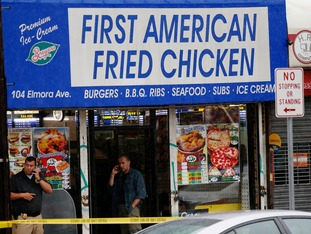 Ahmad Rahami's family restaurant has been cordoned off and investigated in Elizabeth, New Jersey.