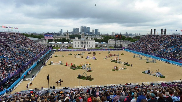 Equestrian arena.