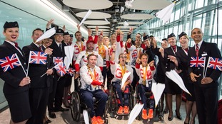 A group of ParalympicsGB medal winners enjoyed their homecoming.