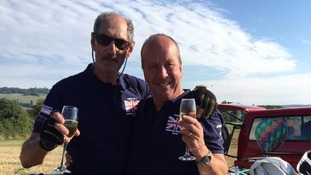 Touch down but no glory for balloon race team