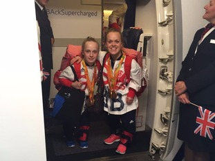 Ellie Robinson, left, and Ellie Simmonds were among the swimming successes for ParalympicsGB at Rio 2016.