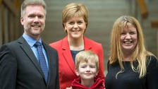 The Brain family and Nicola Sturgeon