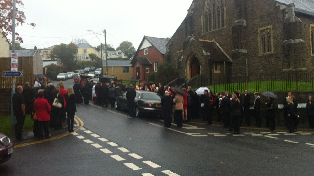 funeral held for cwmbran fire victims wales itv news. Black Bedroom Furniture Sets. Home Design Ideas