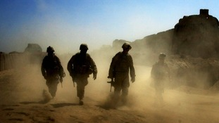 Troops on patrol in Afghanistan