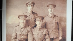Four soldiers of WWI