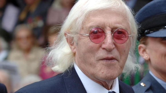 Jimmy Savile at the 65th anniversary of the Battle of Britain in 2005