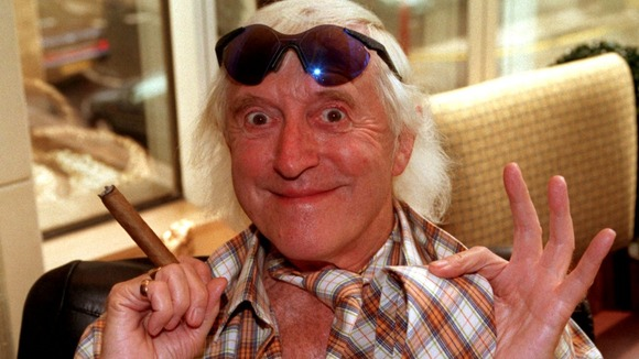 Jimmy Savile pictured in 1998