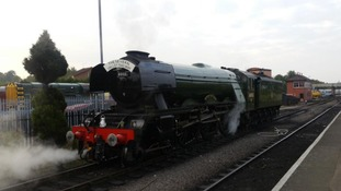 Flying Scotsman steams into Kidderminster
