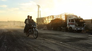 The strike comes after an attack on an aid convoy and warehouse in Uram al-Kubra.