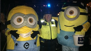 CSO Gail Cassidy with some Minion visitors at the event