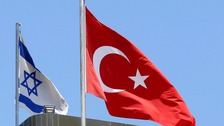 At least one person has been wounded in an attack outside the Israeli embassy in Ankara.