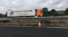 Damaged lorry