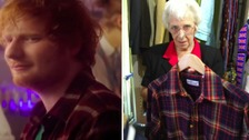 Look familiar? The St Elizabeth Hospice shop in Framlingham has been given Ed Sheeran's shirt from Bridget Jones' Baby.