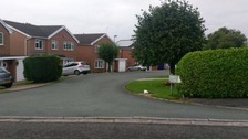 Fowey Close, off St Austell Drive in Macclesfield