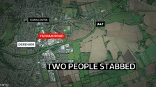 A man has been charged after two people were stabbed.
