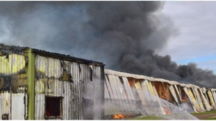 A storage unit on Forest Lane in Walesby has gone up in flames