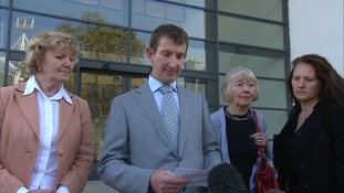 Ms McFarland's family outside Ipswich Crown Court.