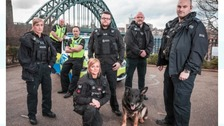 Officers from Northumbria Police who star in ITV documentary Car Wars