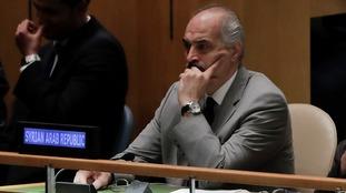 Bashar al-Ja'afari addressed the UN Security Council on Wednesday